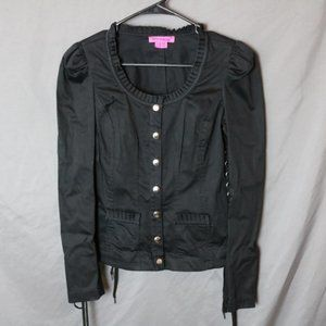 Betsey Johnson Corset Lace Up Jacket